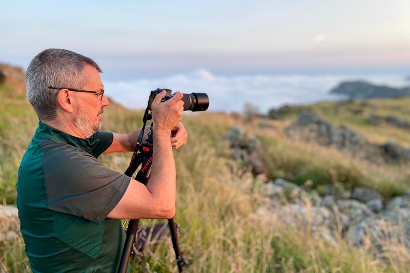 Fotografia di paesaggio durante un workshop di fotografia naturalistica personalizzato.